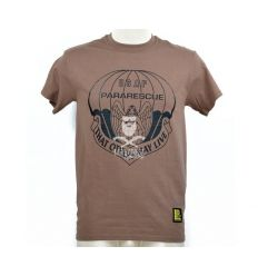 T-Shirt 'USAF Pararescue' Marrone
