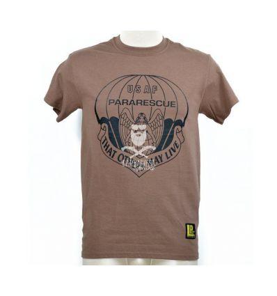 T-Shirt 'USAF Pararescue' Marrone