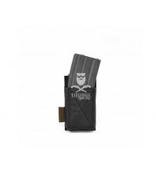 Warrior Single Elastic Mag Pouch - Black