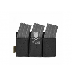 Warrior Triple Elastic Mag Pouch - Black