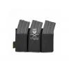 Warrior Triple Elastic Mag Pouch - Black