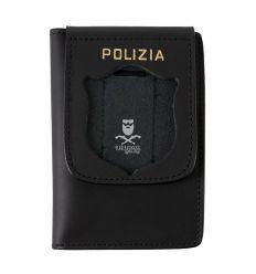 Porta Foglio in Pelle con Molla Senza Placca per Polizia.