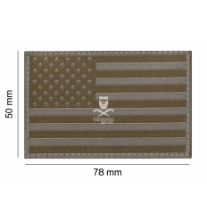 Patch USA Flag Ral7013 - Clawgear