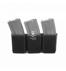 Triple Velcro Mag Pouch for 5.56mm Mags. - Black