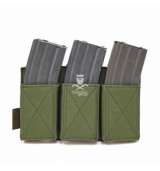 Warrior Triple Elastic Mag Pouch - OD Green
