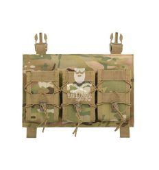 Tasca Tripla Porta Caricatore a Pannello - Multicam