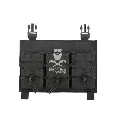 Tasca Tripla Porta Caricatore a Pannello - Black