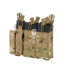 Tasca Tripla Porta Caricatore 5.56/9mm a Pannello - Multicam