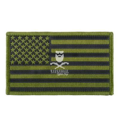 Patch US Flag Big - Green